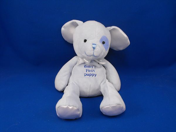 Small Wonders 8572 Blue Babys First Puppy Rattle