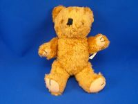 Vintage FIB Brown Chenille Bear Fleece Paws Jointed Arms Legs