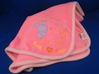 Carters 35623 Hot Pink Fleece Knit BUNNY HUGS Baby Blanket