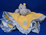 Blankets and Beyond Blue Hippo Yellow Blankie