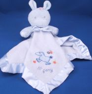 Gerber Beginnings Blue Pony Blankie Horse Lil Pony Satin Bow