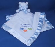 Rashti Baby Tykes Blue Stripe Cat Blankie Thank Heaven for Little Boys