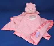 Care Bears Baby Pink Waffle Blankie Circle Rainbow Satin Binding