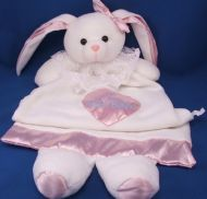 DAKIN XL Gown Comfy White Rabbit My Night Night Bunny Feet