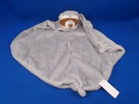 Angel Dear Gray Brown Raccoon Blankie Knotted Buttons