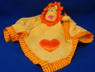 Babyboom no 90347 Yellow Orange Lion Blankie Heart Stripes