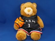 Build a Bear Golden Brown Cream Bear BABW Basketball Uniform