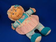 1995 Mattel CPK Cabbage Patch Doll Green Pink Dress Bonnet Chime