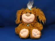 2005 CPK Cabbage Patch Kids Brown Dog Pet Blue Leash