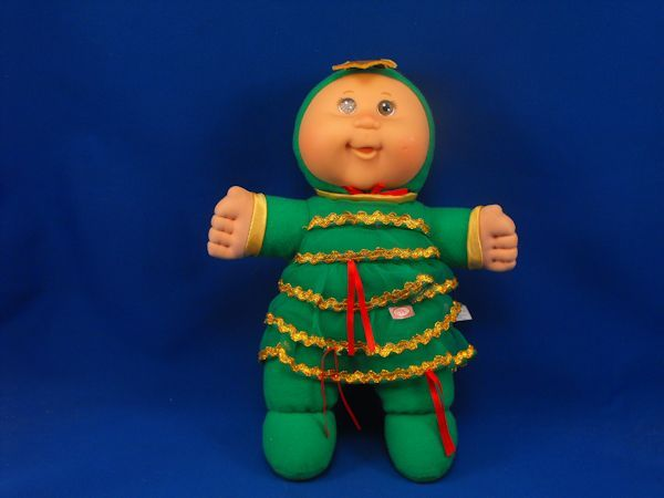Cabbage Patch Kid Baby Doll Green Christmas Tree Sleeper