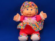 CPK Cabbage Patch Kid Flower Print Doll Bonnet Chime Rattle