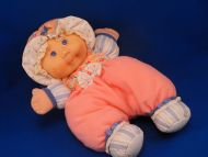 CPK Cabbage Patch Kid Peach Blue White Doll Bonnet Chime
