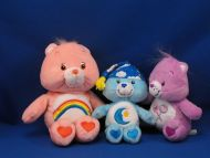 Lot of 3 2002-2004 Care Bears - Share Cheer Bedtime