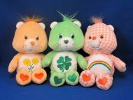 Lot of 3 2002-2006 TCFC Sherbert Color Care Bears