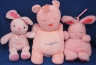 Carters Child of Mine Pink Rabbit Crib Pull Old Mcdonald Had a Farm