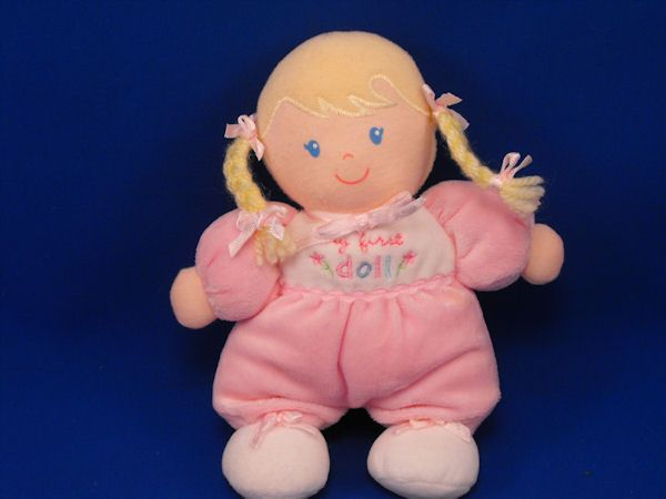 Carters 38234 Blond Velour Hair Yarn Pigtails Doll My First Doll
