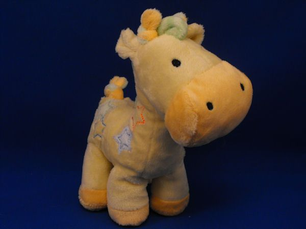 Carters no 98684 Yellow Orange Green Baby Giraffe Stars Rattle