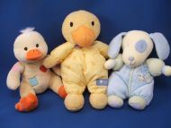 Baby Connection Yellow Duck Orange Beak Feet Patches Rattle Squeak