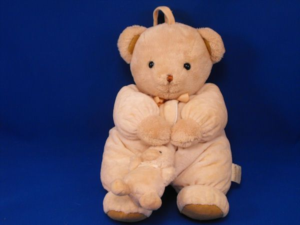 Carters no 7606 Cream Bear Holding Crib Pull Cream Duck