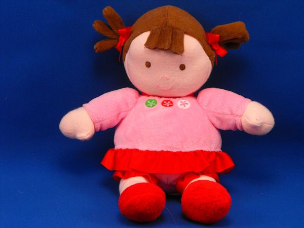 Carters Brunette Pigtails Doll Pink Red Dress Shoes
