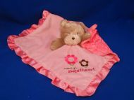 Carters Tan Bear MOMMYS SWEETHEART Pink Blankie