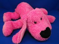Commonwealth 2000 Sparkle Large Hot Pink Lying Down Dog