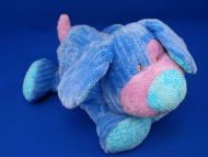 Commonwealth 2006 Softhearted Friends Blue Chenille Dog Rattle