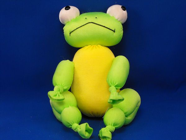 Commonwealth 2002 Yellow Green Foam Knotted Legs Frog