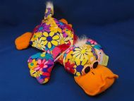 DanDee COLLECTORS CHOICE Neon Flower Squishy Duck Platypus