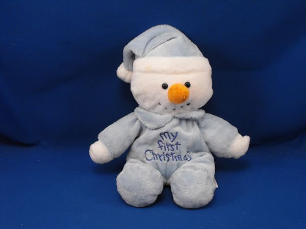 DanDee Collectors Choice Blue White Snowman My First Christmas