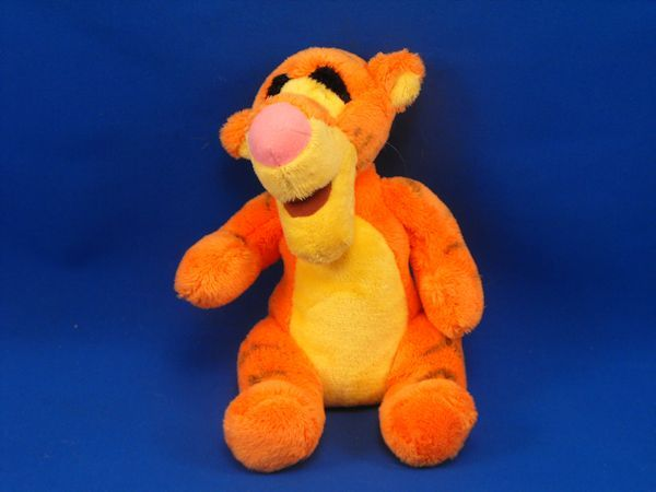 Disney Small Soft Orange Yellow Seated Tigger Turned Head