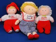 Eden Blond Doll White Babys 1st Christmas Holly Red Pants