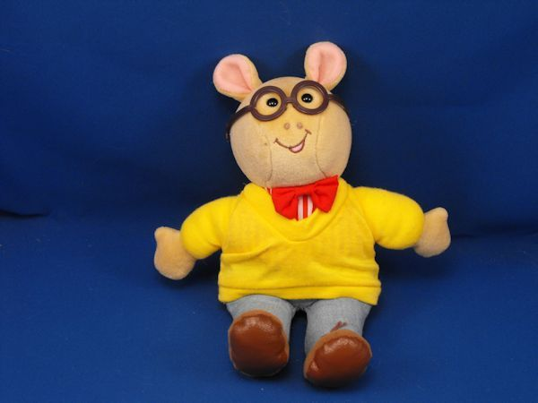 1995 Eden Arthur Doll Yellow Sweater Jeans Glasses Bow Tie