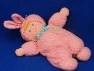 Eden Blond Doll Pink Waffle Sleeper Rabbit Ears Easter Egg Rattle