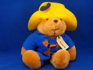 Eden Brown Paddington Bear Yellow Hat Blue Jacket Plastic Toggle