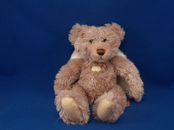 First and Main 1304 Tan Angel Bears Roses Large White Wings