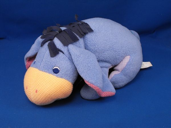 2001 Fisher Price 94856 Blue Fleece Eeyore Thermal Tummy