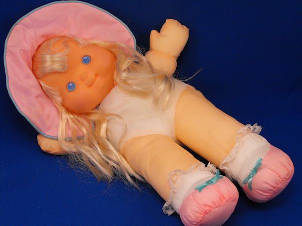 Fisher Price 1992 Puffalump Pretty Hair Blond Doll Pink Missing Dress