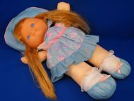Fisher Price 1992 no 4051 4054 Blond Doll Aqua Dress Bonnet