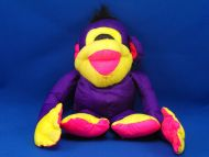 Fisher Price 1994 Purple Pink Puffalump Chattering Chimp