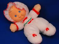 Fisher Price 1991 Puffalump Kids Doll White Red Green Bonnet