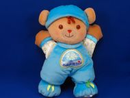 Fisher Price 2008 Tan Bear Aqua Boy Babys 1st Bear