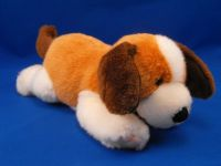 Gund 13137 Brown White Lying Down REBEL Beagle Dog