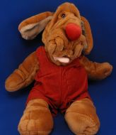 Ganzbros Full Body Puppet Wrinkles Brown Boy Dog Rust Overalls
