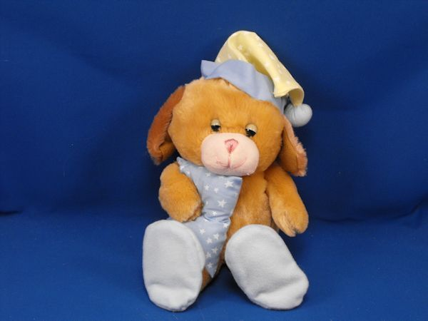 GOFFA Brown Sleepy Bear Blue Pillow BLUE Slippers Now I Lay Me