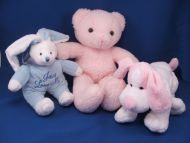 Aurora A&A 1992 Large Pink Woolly Chenille Teddy Bear