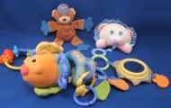 Fisher Price Fish Link a Doos Extras Crinkle Teether Rattles Mirror