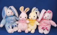 Walmart Yellow Blue White Check Rabbit My First Easter Bunny