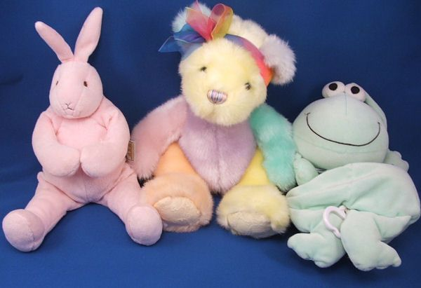 Bunnies by the Bay Baby Pink Velour Rabbit White Velour Tail