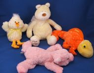 KB Toys Softhearted Friends Yellow Bear Babys First Bear